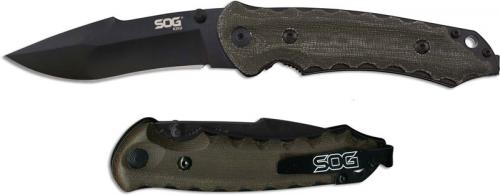 SOG Kiku Folder, Small Black, SG-KU1002
