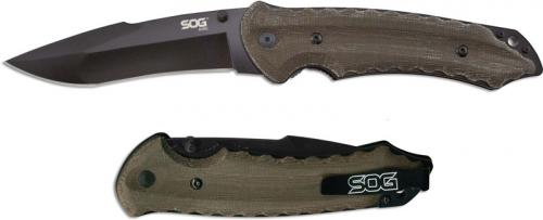SOG Kiku Folder, Large Black, SG-KU1012