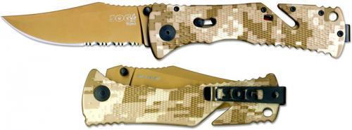 SOG Knives: SOG Trident Folder Knife, Desert Camo, SG-TF5