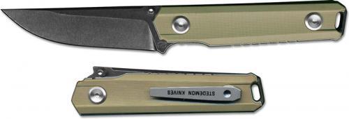 Stedemon ZKC BP02BRWS EDC Knife Smoky Wash Blade Brown Handle Liner Lock Folder