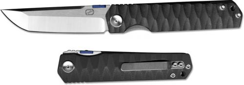Stedemon ZKC C03D01 Shy IV 2017 EDC Folding Knife Satin Tanto Black G10