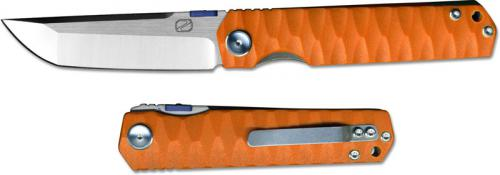 Stedemon ZKC C03D03 Shy IV 2017 EDC Folding Knife Satin Tanto Orange G10