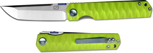 Stedemon ZKC C03D04 Shy IV 2017 EDC Folding Knife Satin Tanto Green G10
