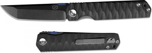 Stedemon ZKC C03D06 Shy IV 2017 EDC Folding Knife Smokywash Tanto Black G10