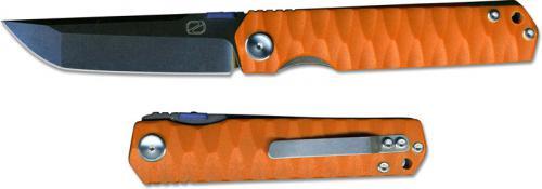 Stedemon ZKC C03D08 Shy IV 2017 EDC Folding Knife Smokywash Tanto Orange G10