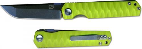 Stedemon ZKC C03D09 Shy IV 2017 EDC Folding Knife Smokywash Tanto Green G10