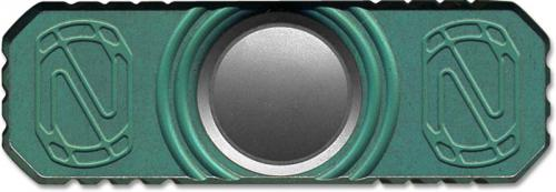 Stedemon Z01BLU Hand Spinner Fidget Toy Stress Reliever Teal Blue Anodized Titanium