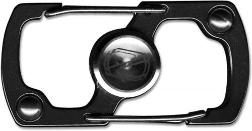 Stedemon Z06BLC Key Chain Lock Fidget Spinner Stress Reliever Black Stainless Steel
