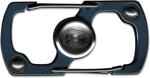 Stedemon Z06BLU Key Chain Lock Fidget Spinner Stress Reliever Blue Stainless Steel