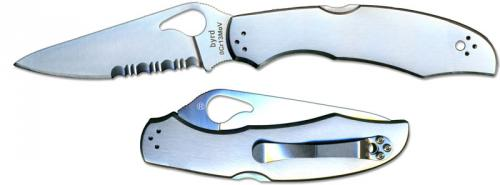 Spyderco Byrd Cara Cara2 SS, Serrated, SP-BY03PS2