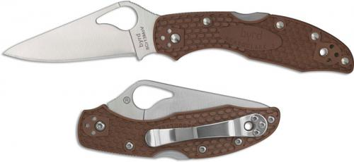 Spyderco Byrd Meadowlark 2 BY04PBN2 Knife Value Price EDC Lock Back Folder Brown FRN