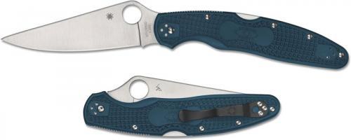 Spyderco Police 4 Lightweight K390 - C07FP4K390 - K390 Drop Point - Blue FRN - Lock Back