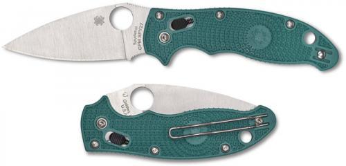 Spyderco Manix 2 Lightweight C101PCBL2 - CPM SPY27 Blade - Aqua Blue FRCP Handle - USA Made