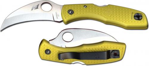 Spyderco Knives: Spyderco Tasman Salt Knife, Yellow Handle, SP-C106PYL