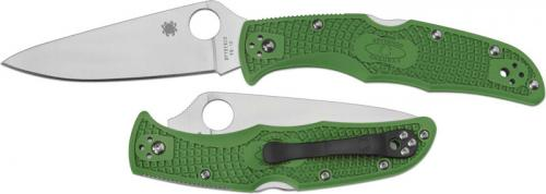 Spyderco Knives: Spyderco Endura 4 Lightweight, Green, SP-C10FPGR