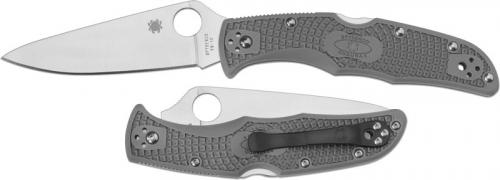 Spyderco Knives: Spyderco Endura 4 Lightweight, Gray, SP-C10FPGY