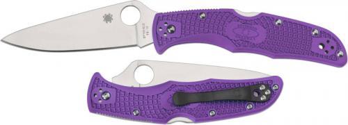 Spyderco Knives: Spyderco Endura 4 Lightweight, Purple, SP-C10FPPR