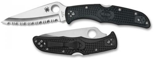 Spyderco Knives: Spyderco Endura 4 Knife, Serrated, SP-C10SBK