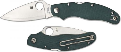 Spyderco C113GPGR Caly 3 Knife Sprint Run, HAP40 SUS410 Blade, Green G10 Handle