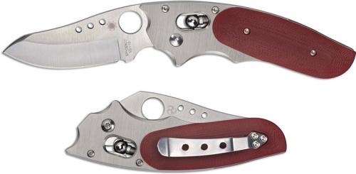 Spyderco Viele Phoenix Knife - C114GPRD - Sprint Run - VG-10 Drop Point - Titanium and Red G10 - Made in Japan