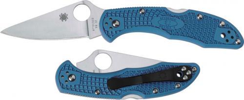 Spyderco Knives: Spyderco Delica 4 Lightweight, Blue, SP-C11FPBL