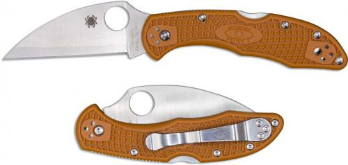 Spyderco Delica Wharncliffe Knife C11FPWCBORE 2018 Sprint Run HAP40 SUS410 Burnt Orange FRN