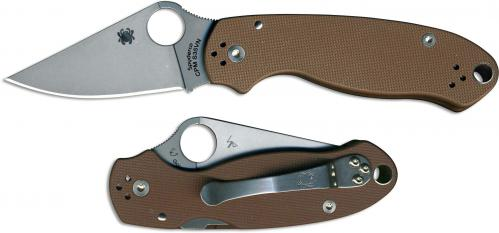 Spyderco Para 3 C223GPBN Limited CPM S35VN Blade Earth Brown G10 Handle USA Made