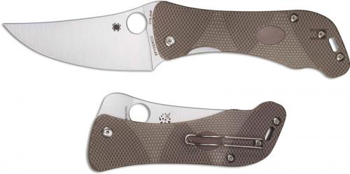 Spyderco C225GP Hundred Pacer Brown and Tan Layered G10 Liner Lock Folding Knife