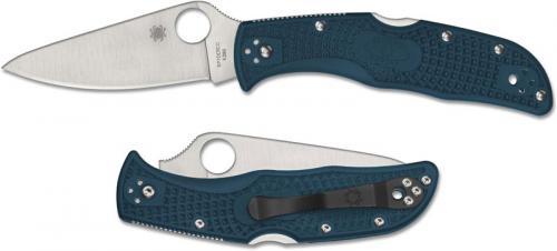 Spyderco Endela Lightweight K390 - C243FPK390 - K390 Drop Point - Blue FRN - Lock Back