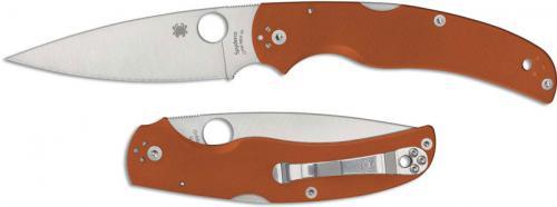 Spyderco Native Chief C244GPBORE - REX 45 Blade - Burnt Orange G10 Handle - Sprint Run - USA Made