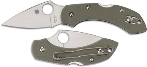 Spyderco Knives: Spyderco Dragonfly, Foliage Green G10, SP-C28GPFG