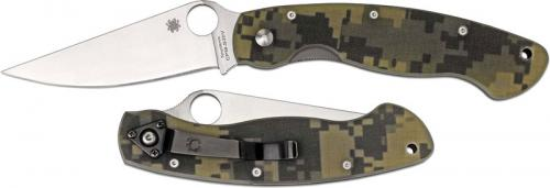 Spyderco Knives: Spyderco Military Knife, Camo, SP-C36GPCMO