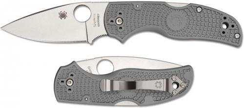 Spyderco C41PGY5 Native 5 Knife, 2.95 Inch Maxamet Steel Blade, Gray FRN Handle