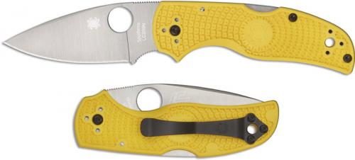 Spyderco Native Salt Knife C41PYL5 Rust Proof Leaf Blade Yellow FRN Handle USA Made
