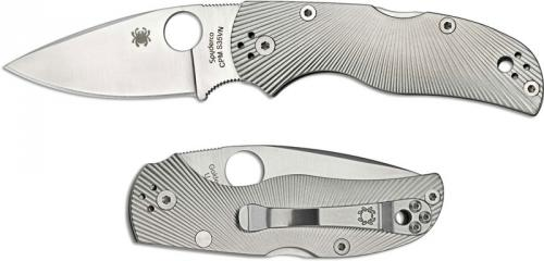Spyderco Native5 Knife, Fluted Titanium, SP-C41TIFP5