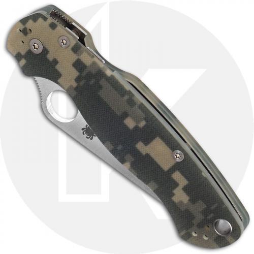 Spyderco Para Military 2 C81GPCMO2 - Satin CPM S45VN - Camo G10 - Compression Lock - USA Made