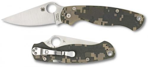 Spyderco Para Military2 Knife, Camo, SP-C81GPCMO2