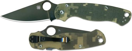 Spyderco Para Military2 Knife, Camo, SP-C81GPCMOBK2