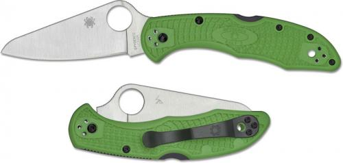 Spyderco Salt 2 Knife - C88FPGR2 - LC200N Drop Point - Green FRN - Lock Back