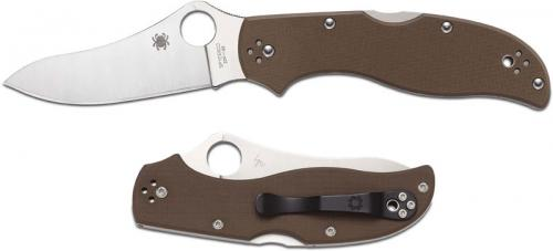 Spyderco Stretch 2 Knife, Brown G10 ZDP, SP-C90GBNPE2