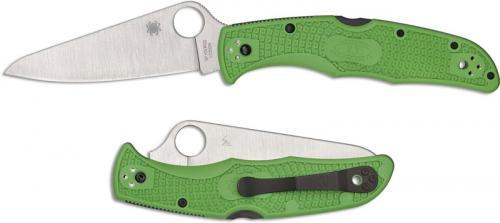 Spyderco Pacific Salt 2 Knife - C91FPGR2 - LC200N Drop Point - Green FRN - Lock Back