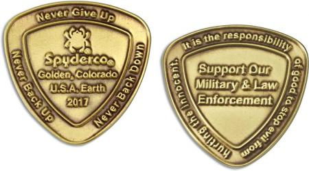 Spyderco COIN2017 SpyderCoin Honors Military and Law Enforcement