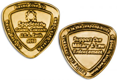 Spyderco COIN2018 SpyderCoin Honors Military and Law Enforcement