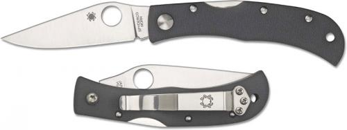 Spyderco CX08GGYP Baby Jess Horn Knife Sprint Run with Dark Gray G10 Handle