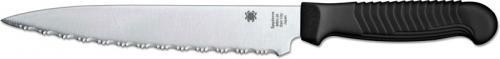 Spyderco Utility Knife, Serrated with Black Handle, SP-K04SBK