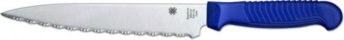 Spyderco Utility Knife, Serrated with Blue Handle, SP-K04SBL