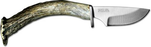 Silver Stag CC20 Crown Casper D2 Drop Point Fixed Blade with Antler Crown Handle USA Made