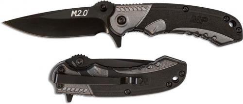 Smith and Wesson M&P M2.0 Ultra Glide Flipper Knife Black Drop Point Black and Gray Aluminum and Nylon 1085906