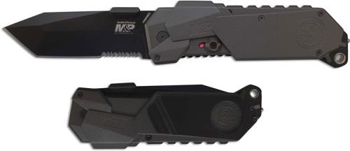 Smith and Wesson MP9 Tanto, Part Serrated, SW-MP9BTS