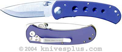 TigerSharp Knives: TigerSharp Large Neon Knife, Blue Handle with Holes, TS-215B